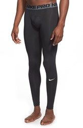 Nike Men's 'Pro Cool Compression' Four Way Stretch Dri Fit Tights Black White