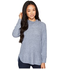 B Collection By Bobeau Melanie Cowl Neck Top Copen Blue Women's Blouse
