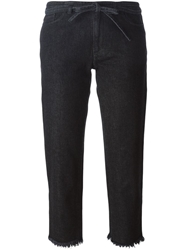 Marques Almeida Frayed Edge Cropped Jeans Black