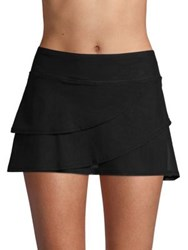 Coco Reef Layered Swim Skirt Black