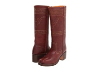 Frye Campus Stitching Horse Walnut Cowboy Boots Brown
