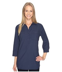 Royal Robbins Expedition Chill Stretch Tunic Navy Women's Long Sleeve Pullover