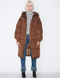 Pixie Market Brown Long Puffy Coat