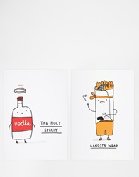 Gifts Ohh Deer Birthday Cards 2Pk Multi