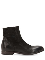 Moma Leather Ankle Boots Black