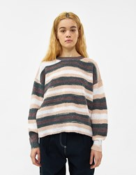 Which We Want Henley Striped Sweater Assorted