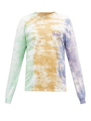 Aries Tie Dye Cotton Jersey Long Sleeved T Shirt Multi