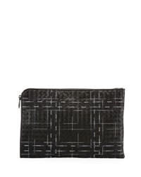 Bottega Veneta Metropolis Napa Leather Pouch Black