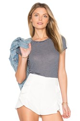Velvet By Graham And Spencer Therese Mini Stripe Tee Blue