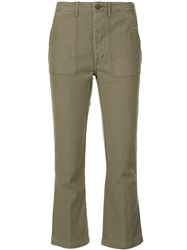 R 13 R13 Cropped Cargo Trousers Cotton Green