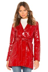 Lpa Cropped Patent Trench Red