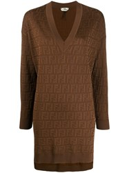 Fendi Ff Logo Long Jumper 60