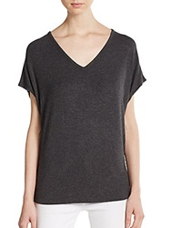 Vince Stretch Modal V Neck Tee Black