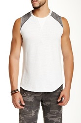 Rogue Contrast Shoulder Tank White
