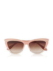Vivienne Westwood Cat Eye Brow Accent Sunglasses Nude