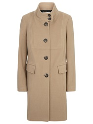 Windsmoor Funnel Neck Wool Coat Camel