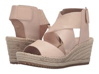 Eileen Fisher Willow Desert Tumbled Leather Women's Wedge Shoes Beige