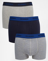 Ben Sherman 3 Pack Boxers Blue