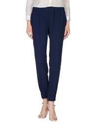 Caractere Trousers Casual Trousers Women Dark Blue