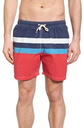 Barbour Beach Swim Trunks Red