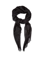 Valentino Camouflage Print Cashmere Blend Scarf Black