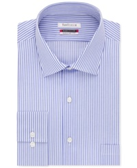 Van Heusen Tek Fit Flex Collar Stripe Dress Shirt Ice Blue