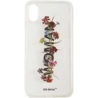 Off White Transparent Flowers Iphone X Case