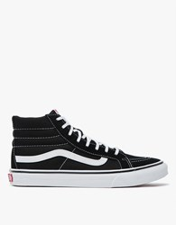 Vans Sk8 Hi Slim In Black White Black White