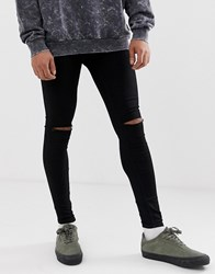 Cheap Monday Him Spray Super Skinny Jeans In Cut Black