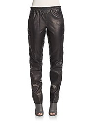 A.L.C. Public Side Snap Leather Pants Black