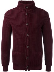 Barena Ribbed Cardigan Red
