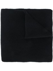Alyx Ribbed Detail Scarf Cashmere Black