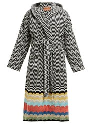 Missoni Home Wolf Jacquard Stripe Cotton Terry Robe Multi