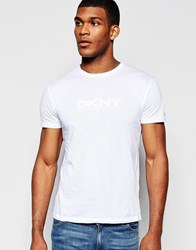 Dkny T Shirt Rubber Chest Print White