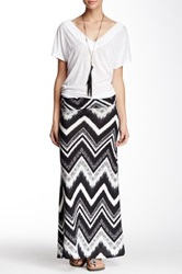 Fire Mixed Chevron Maxi Skirt Juniors Black