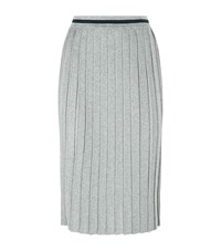 Max Mara Weekend Large Lurex Pleated Midi Skirt Female Silver