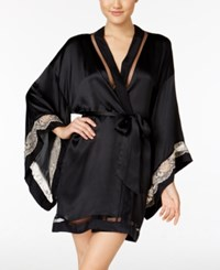 Calvin Klein Ck Black Collection Embrace Lace Band Kimono Robe Qs5554 Light Bare Black