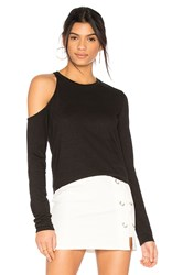 Pam And Gela Shoulder Cutout Tee Black