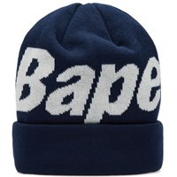 A Bathing Ape Bape Knit Cap Blue