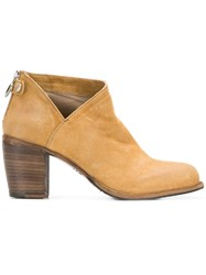 Fiorentini Baker Cut Out Detail Zip Ankle Boots Nude And Neutrals