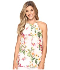 Tommy Bahama Le Tigre Orchid Halter Top Veiled Rose Women's Sleeveless Pink