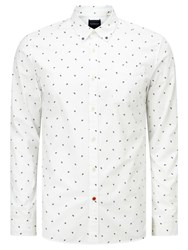 Scotch And Soda All Over Print Slim Fit Shirt White