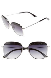 Women's Sunday Somewhere 'Vito' 57Mm Sunglasses Black Glitter Grey Graident