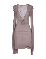 Freesoul Short Dresses Dove Grey
