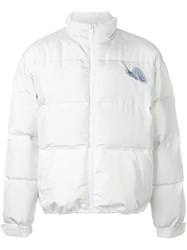 J.W.Anderson Snail Patch Down Jacket White