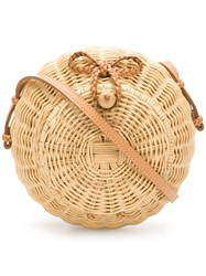 Ulla Johnson Pomme Circular Bag Neutrals