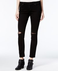 Lucky Brand Lolita Ripped Black Wash Skinny Jeans Destructed
