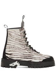 Off White 40Mm Zebra Suede Trekking Boots Black