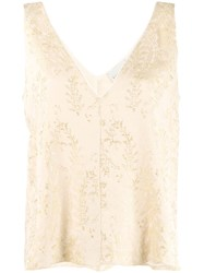Forte Forte Sleeveless Embroidered Vest Neutrals