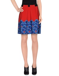 Schumacher Knee Length Skirts Red
